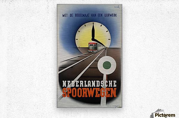 Nederlandse Spoorwegen Poster  Metal print
