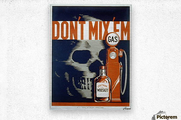 Dont mixem vintage poster  Metal print