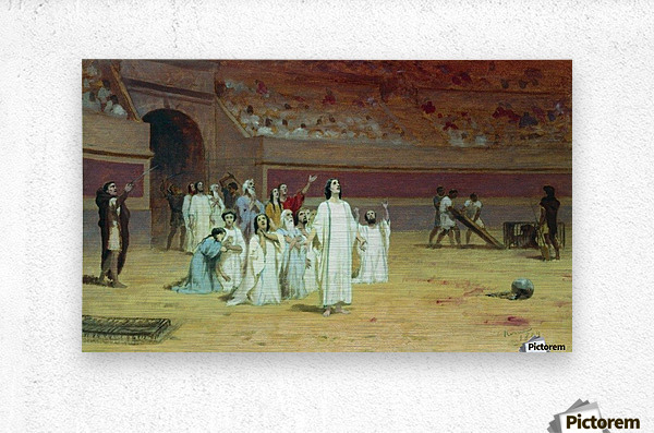 Christians in the arena  Metal print
