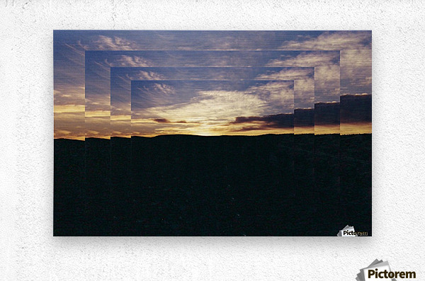 A  Manipulated Sunset  Metal print