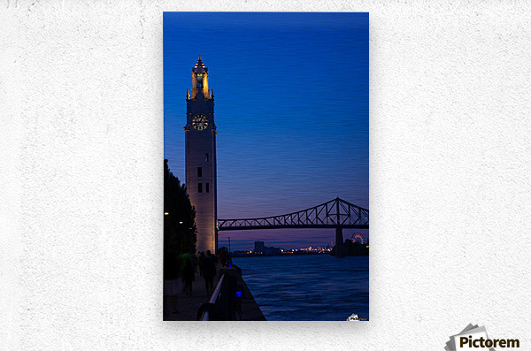 All Along the Clock Tower  Metal print