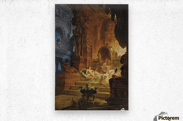 Scheherazade and the Sultan  Metal print