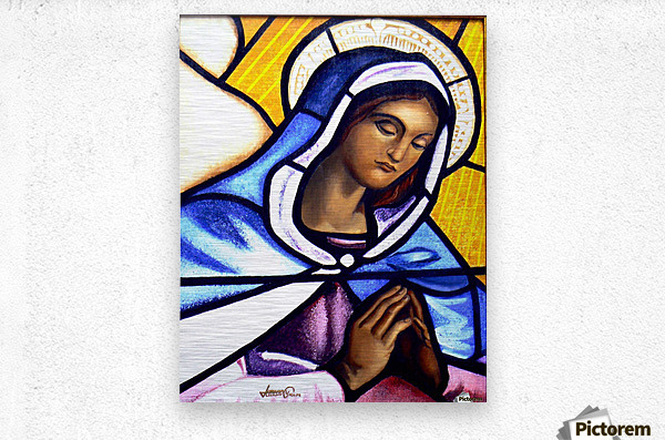 Mary in Glass  Metal print