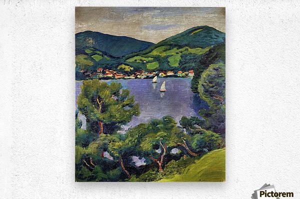 Tegern Sea landscape by August Macke  Metal print