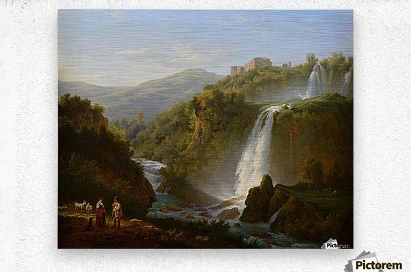 Waterfall near Tivoli  Metal print
