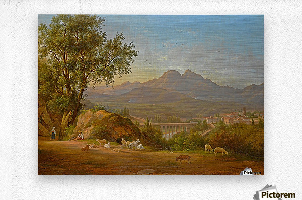 A view of cava dei Tirreni near Salerno, Italy  Metal print