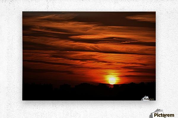 Sunrise in Cairo  Metal print