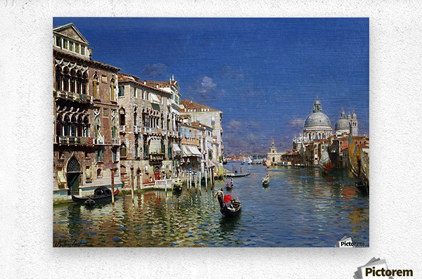 The Grand Canal, Venice  Metal print