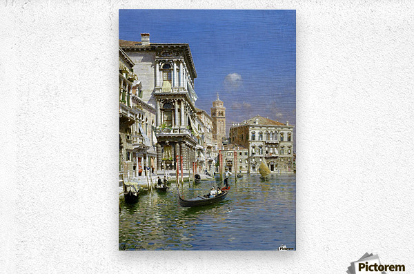 In the gondola  Metal print