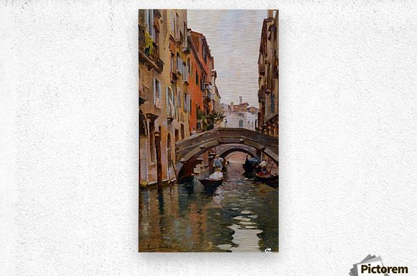 Gondola On a Venetian Canal  Metal print
