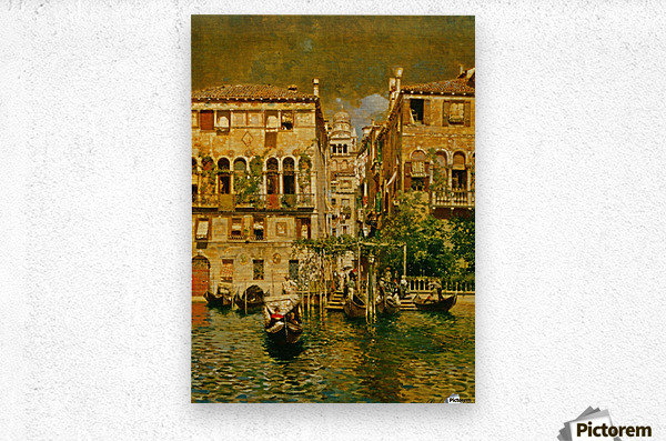 Leaving a Residence on the Grand Canal  Metal print