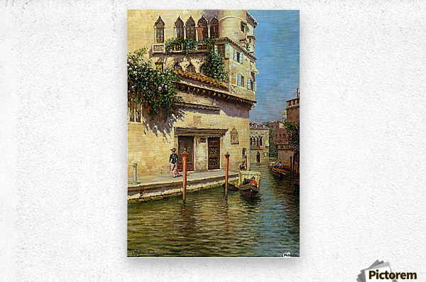 A Venetian Backwater  Metal print