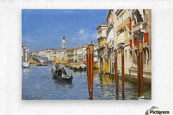 The Grand Canal in Venice  Metal print