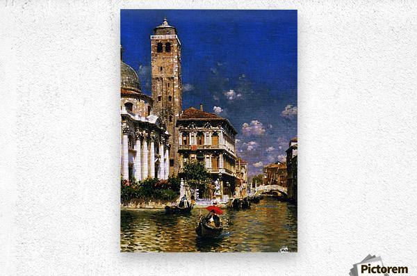 San Geremia, with Palazzo Labia, Venice  Metal print