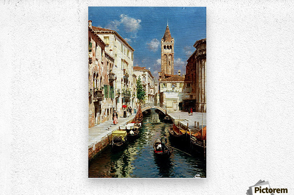 Along Venetian canal  Impression metal