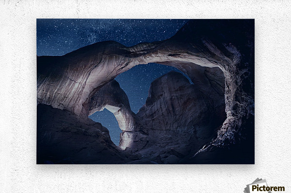 Arches National Park night 1  Metal print