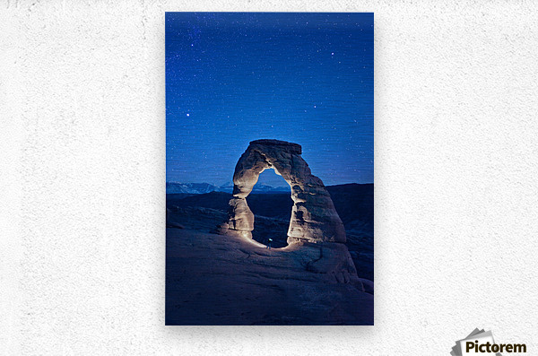 Delicate Arch Night  Metal print