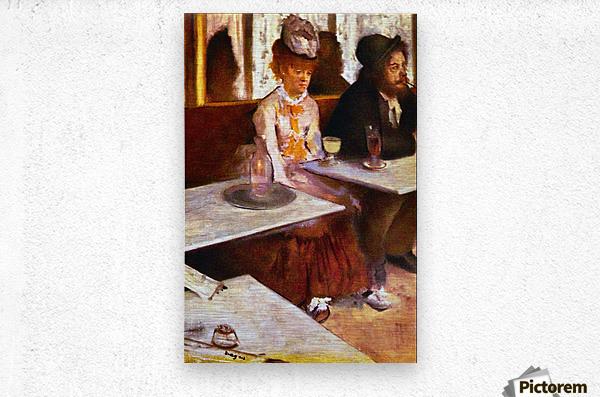 Absinthe Drinkers by Degas  Metal print