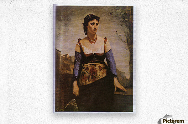 Agostina 1866 by Corot  Metal print