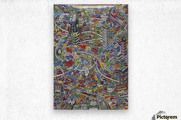 Biltrafikk  Metal print