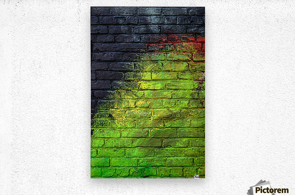 The Green Wall  Metal print