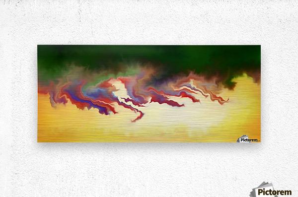 Obadiani V1 - digital abstract  Metal print