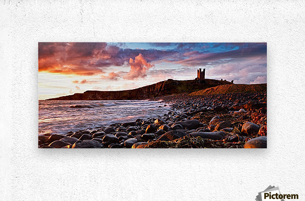 Dunstanburgh Castle, Northumberland, UK  Metal print