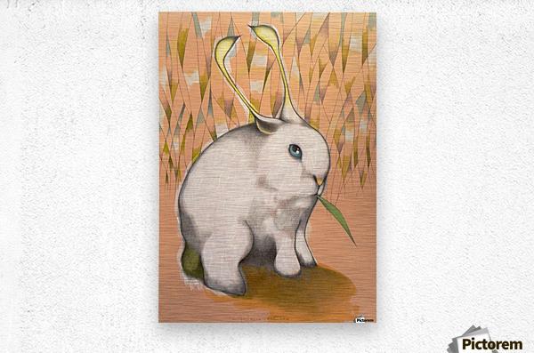 Bunny Alien  Metal print