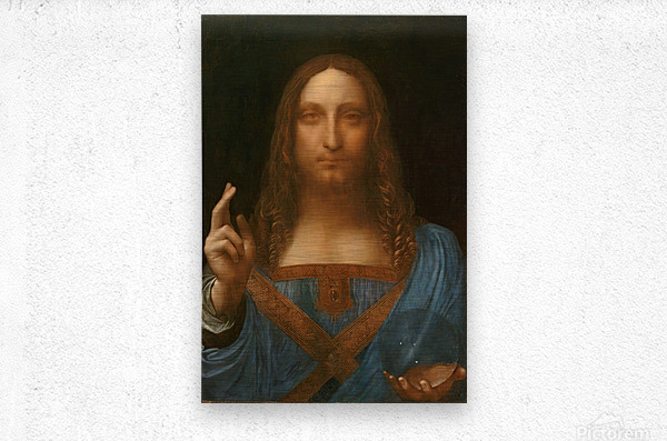 Salvator Mundi  Metal print