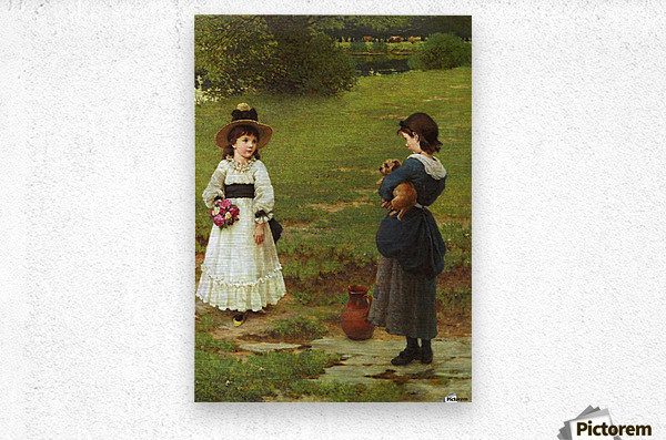 The Town and Country Mouse  Metal print