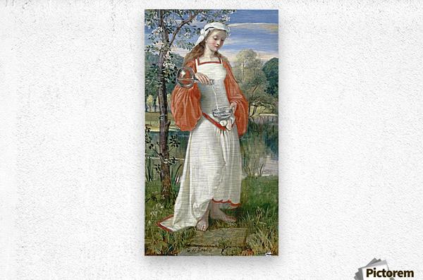 Allegorical Maiden in white dress  Metal print