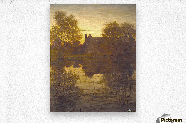 The deserted mill  Metal print