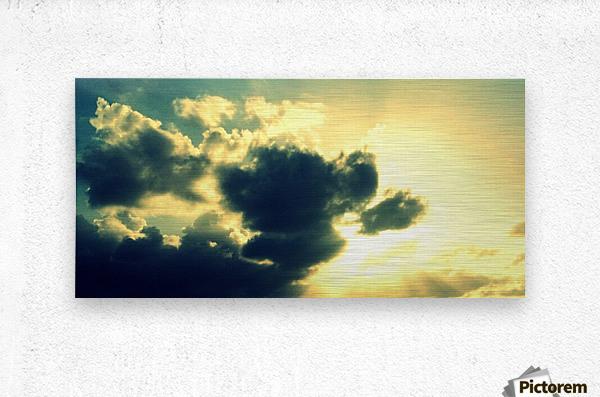 Old sky  Metal print