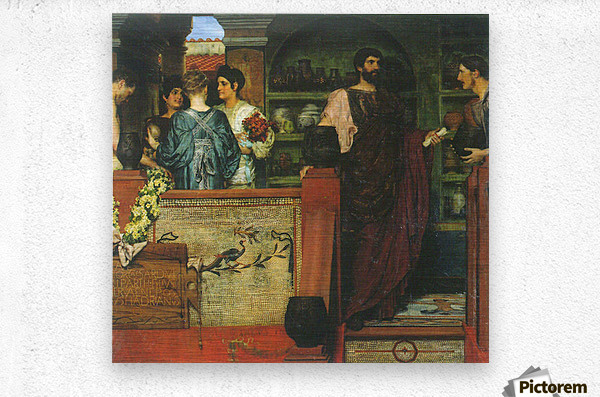 Hadrian visiting a Roman-British pottery by Alma-Tadema  Metal print
