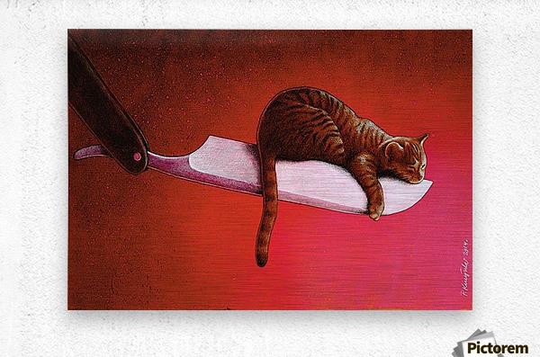 Razor  Cat  Metal print