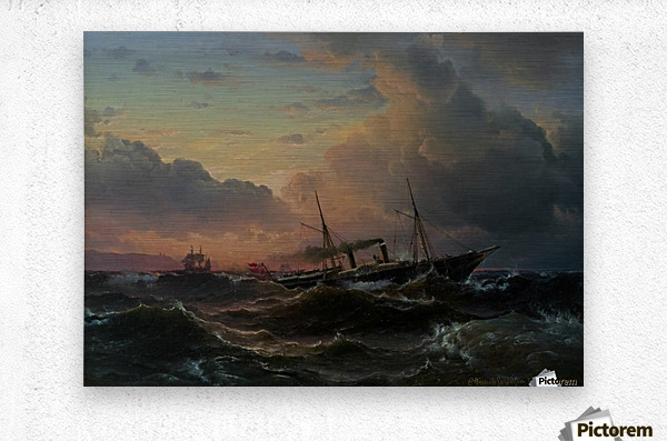 The Princess Louise off the coast of Norway  Metal print