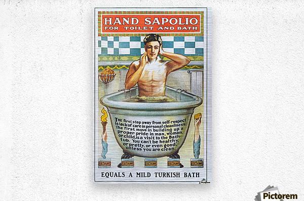 Sapolio Soap advertising poster  Metal print