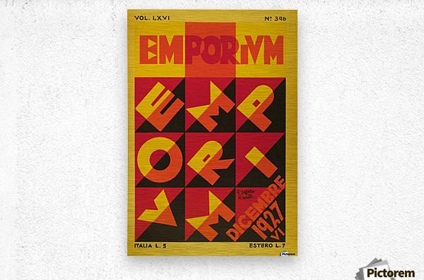 Emporium Italian vintage poster  Metal print
