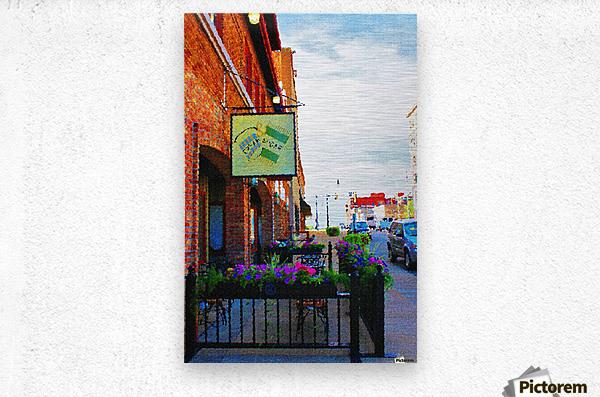 Downtown Kankakee Cafe  Metal print