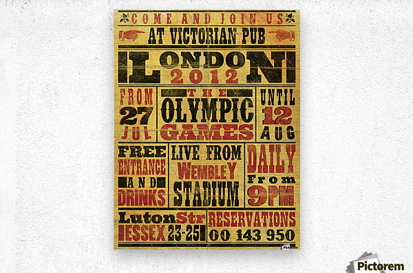 Vintage Olympics poster  Metal print