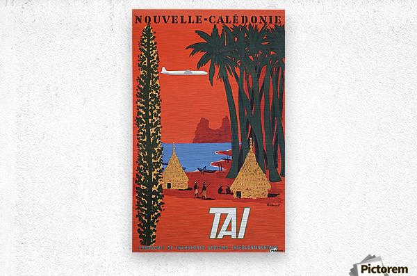 Nouvelle Caledonie TAI vintage travel poster  Metal print