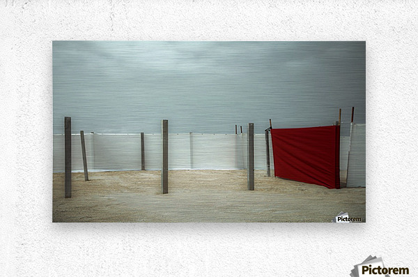 Red canvas  Metal print