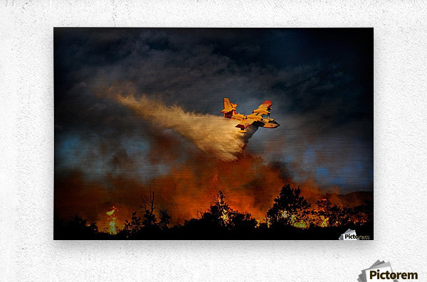Wall of fire  Metal print
