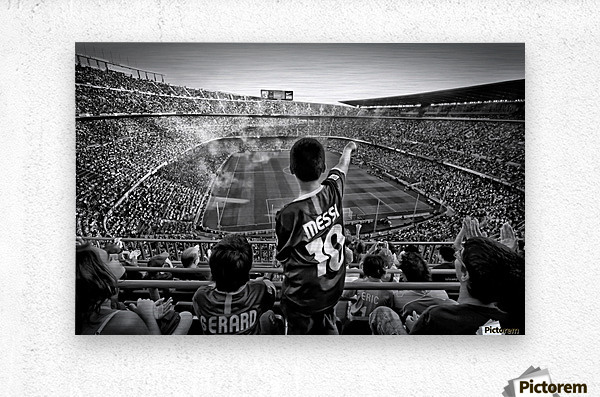 Cathedral of Football  Metal print