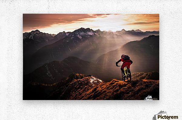 Just ride ...  Metal print