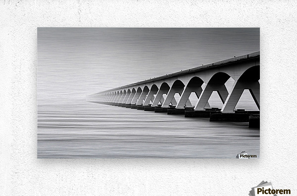 The Endless Bridge  Metal print