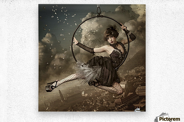 the greatest show in the sky  Metal print