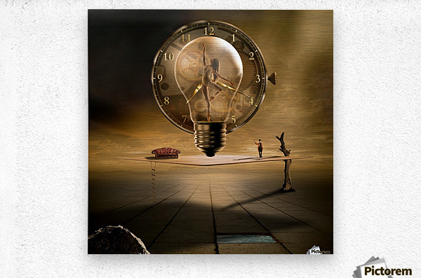 Even in the quietest Moment  Metal print