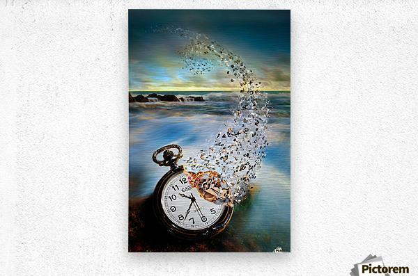 The Vanishing Time  Metal print
