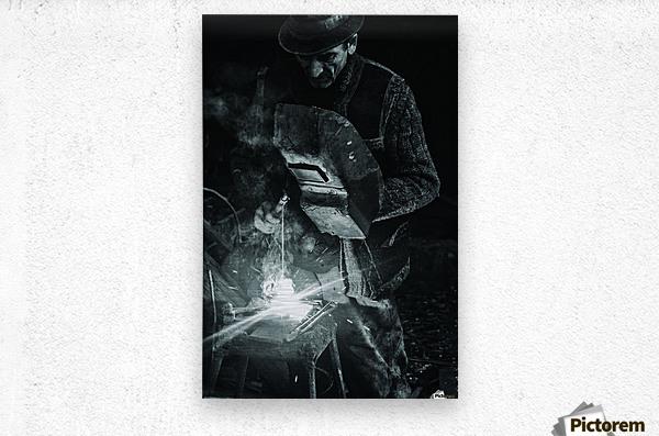 d-nul fierar (Mr. Smith)  Metal print